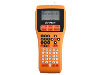 威码标签打印机-GT-2000  机型 手持便携式 直接设定 纵向打印 尺寸标注 65x95x220mm 打印方式 热转印 重量 455g 标签带宽度(mm) 6、10、12、14、18、24mm 接口 无 剪切 手动 液晶屏显示 5个文字x2行 打印精度 203dpi 键盘 ABC排列 打印速度 10mm/s 最大打印宽度 24mm 存储大小 2000字符(20个文件) 输入方式 拼音、笔划、英文 条形码 8种 内置文字数 8306个文字,GB2312/6 下划线