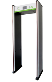 郑州中控智慧3180S安检门 可用遥控器5.7寸液晶显示 18位探测分区 256级灵敏度可调 计数功能 声光同步报警