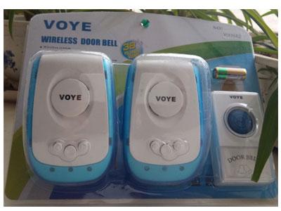 VOYE V009-2(交流)一拖二门铃 无线智能门铃