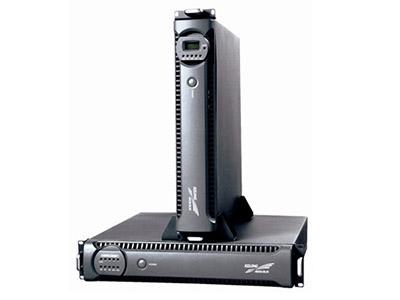 """科华精卫YTR系列智能化超小型UPS(机架式)    """"● 在线式双变换工作方式,输出稳定度高,零中断时间。 ● 智能型RS232通讯软件监控: ● 配置RS232数据通讯接口,实现软件监控。 ● 支持KELONG® SNMP网络适配器,有效简化网络管理,提高系统可靠性。 ● 输入功率因数高 绿色环保系数强: ● 先进的电源PFC控制技术,交流输入功率因数>0.98,减轻电网负荷,符合绿色电源新概念。 ● 体积小,性能高: ●  最新高频电源变换技术,体积小、重量轻、可靠性高。"""""""