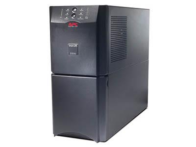APC SUA2200UXICH    UPS类型:在线式 额定功率:2.2W 输入电压范围:160- 286V 输入频率范围:50/60 ± 5Hz 输出电压范围:230V±5\%V 输出频率范围:47- 53 Hz for 50 Hz nominal,57 - 63 Hz for 60 Hz nominalHz
