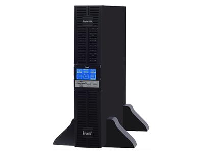 """英威腾HR11系列在线机架式UPS电源    """"1.采用高性能的DSP 数字处理器,使数据处理精确迅速,可靠性更高。  2.超宽输入频率(40-70HZ),自适应输出频率50/60HZ,满足各种发电机的接入。  3.零切换时间。  4.输入零火线反接检测功能。  5.直流启动(冷启动),方便操作。  6.自动重启功能。  7.自动检测功能。  8.具有过载、短路、过压、欠压及旁路、紧急关机等多种保护功能。  9.智能化电池管理功能,有限延长电池寿命。  10.超强网络管理功能,透过RS232接口,智能插槽Intelligen"""