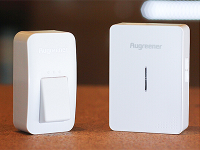 澳格纳自发电门铃 无线家用耐寒防水寿命长超强穿透力可调音量无需电池简易安装创意智能家居必备 一拖一