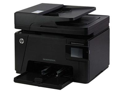 """HP M177fw    """"产品类型: 彩色激光多功能一体机 涵盖功能: 打印/复印/扫描/传真 最大处理幅面: A4 耗材类型: 鼓粉分离 黑白打印速度: 16ppm 打印分辨率: 2400dpi 网络功能: 支持无线/有线网络打印 双面功能: 手动"""""""