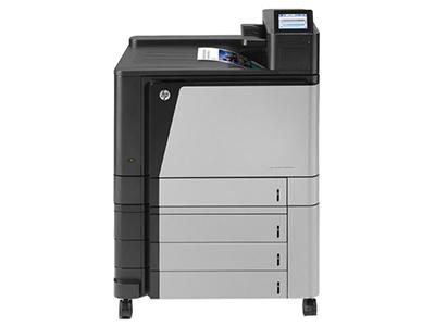 "HP M855xh    ""产品类型: 彩色激光打印机 最大打印幅面: A3 黑白打印速度: 46ppm 最高分辨率: 1200×1200dpi 耗材类型: 鼓粉一体 进纸盒容量: 标配:500页(4个),多功能进纸器:100页 网络打印: 支持有线网络打印 双面打印: 自动"""