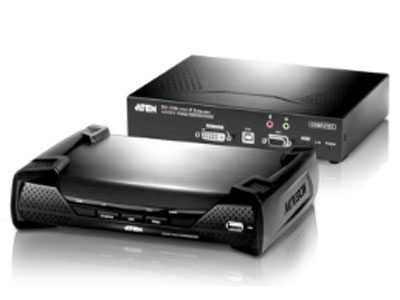 ATEN KE6900  USB 虚拟媒体N/A2 x USB Type A 母头 ( 白 ) 控制端键盘1 x USB Type A 母头 ( 白 ) 显示器1 x DVI-I 鼠标1 x USB Type A 母头 ( 白 ) 扬声器1 x Mini 立体声插口 母头 ( 绿 ) 麦克风1 x Mini 立体声插口 母头 ( 粉红 ) RS-2321 x DB-9 公头 ( 黑 ) 电脑端键盘 / 鼠标USB Type B 母头 ( 白 )N/A 扬声器1 x Mini 立体声插口