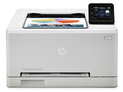 HP M252dw    A4幅面,黑彩同速19页/分,内存128MB,月印量30000页,标配网络打印,标配双面打印,3英寸彩色触摸屏