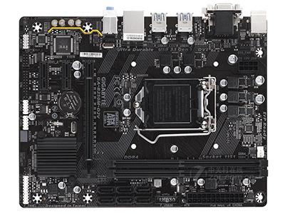 技嘉B250M-D2V    主芯片组: Intel B250 音频芯片: 集成Realtek ALC887 8声道音效芯片  内存插槽: 2×DDR4 DIMM 最大内存容量: 32GB 主板板型: Micro ATX板型 外形尺寸: 22.6×17.4cm 电源插口: 一个8针,一个24针电源接口