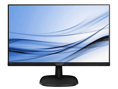 飞利浦 243V7QSB  屏幕尺寸:23.8英寸 面板类型:IPS 最佳分辨率:1920x1080 可视角度:178/178° 视频接口:D-Sub(VGA),DVI-D 底座功能:倾斜:-5/20°