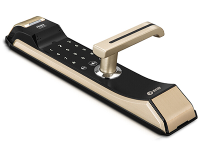 科密指纹锁S2    产品型号 科密S2指纹锁;指纹存储容量 500(枚);开锁次数> 1(次);扫描时间< 1(s),认假率< 0.0001(\%),拒真率< 0.001(\%),工作温度 -30-70(℃),工作湿度 15-90(\%),比对方式 1:N 适用范围 商务楼,家用,办公室等场所;使用寿命 30(万次),供电电源 8节干电池,产品尺寸 379*87*25mm。