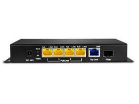 乐光 LG-P1005 •整机最大POE输出功率72W •可为48V监控/AP供电&传输数据 •4个POE端口 •1个Uplink端口 •支持IEEE802.3af/At标准 •每个端口均支持MDI /MDIX自动翻转功能 •即插即用,灵活扩展网络布局
