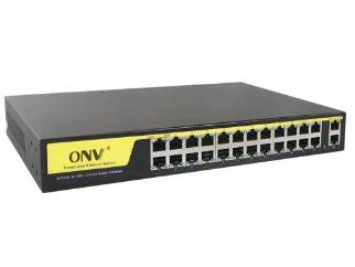 光网视 ONV-POE21024P 系列交换机是针对监控,小企业,家庭开发的高效能以太网交换机,具备优异的防雷能力和安全特性;产品采用标准机架金属外壳设计,方便在安装;产品完全符合IEEE802.3 10BASE-T以太网、IEEE802.3u 100BASE-TX快速以太网、ANSI/IEEE 802.3 NWay自动协商IEEE802.3x流量控制