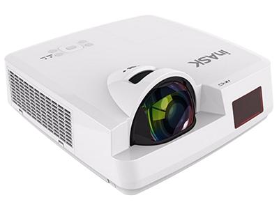"IN ASK SX330    ""74厘米内,投影面积可达到80英寸(对角线) 3300流明 XGA(1024×768)分辨率 20000:1对比度 支持四角梯形校正、桶形校正"""