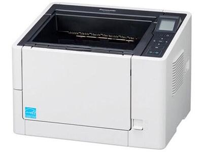 松下KV-S2087    双面进纸扫描,可扫描为黑白和彩色两种,单面扫描85ppm,双面扫描170ipm(图像),分辨率600dpi、1200dpi(差值),接口USB2.0/3.0,ADF容量200页(21lbs、80g/m=),双进纸检测,自动预览、自动扫描、通知功能、图像自动定位,自动裁切/纠偏,自动调整亮度,动态阀值,纸白电平、自动分离、多色分离、自动区分黑白和彩色、等色操作、双通道、双曝光、光滑背景、去孔功能、名片-信纸A4