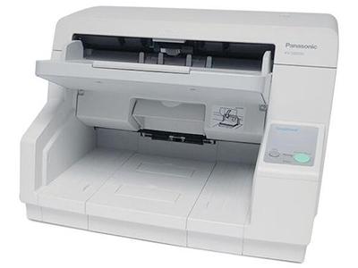 松下KV-S5046H    双面进纸扫描,可扫描为黑白和彩色两种,单面扫描80ppm,双面扫描160ipm,分辨率600dpi,接口USB2.0,ADF容量200页(21lbs、80g/m=),双进纸检测,自动预览、自动扫描、通知功能、图像自动定位,自动裁切/纠偏,自动调整亮度,动态阀值,纸白电平、自动分离、多色分离、自动区分黑白和彩色、等色操作、双通道、双曝光、光滑背景、去孔功能、名片-信纸A4
