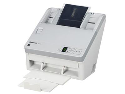 松下KV-SL1056    双面进纸扫描,可扫描为黑白和彩色两种,单面扫描45ppm,双面扫描90ipm(图像)(300dpi)(黑白/彩色),分辨率600dpi、1200dpi(差值),接口USB2.0,ADF容量100页(21lbs、80g/m=)3张硬卡片,双进纸检测,自动预览、自动扫描、通知功能、图像自动定位,自动裁切/纠偏,自动调整亮度,动态阀值,纸白电平、自动分离、多色分离、自动区分黑白和彩色、等色操作、双通道、双曝光、光滑背景、去孔功能、名片-信纸A4