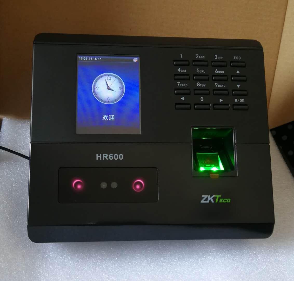 郑州中控HR600人脸指纹考勤机 项目工程机新款,指纹人脸双功能,200人脸 400指纹,TCP联网,U盘下载
