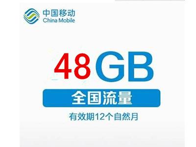 48G移动包年流量卡