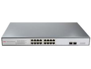"""光网视 ONV-POE33016PF 16*10/100/1000M电口+2*GF千兆SFP 非网管POE交换机,其中1-16口支持IEEE 802.3af/at POE标准 POE端口支持AF/AT智能识别,每端口标准输出功率15.4W,单端口最大功率30W,仅支持1,2(+)/3,6(-)网络4芯供电  标准1U机架,内置电源 不含光纤模块,可配SFP模块"""""""
