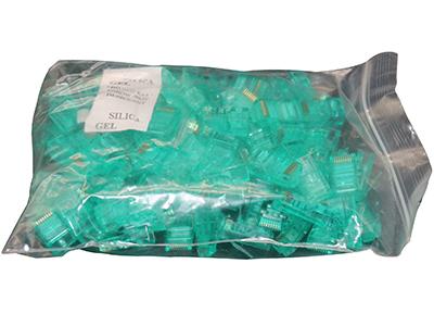 坦贝尔超五类水晶头绿色