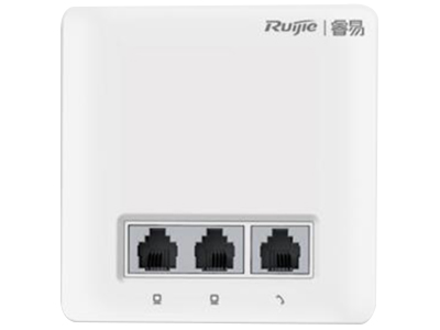 锐捷睿易 RG-RAP100 标配雅白 可选配无 物理特性 业务端口正面: 2个10/100Mbps自协商以太网口 1个RJ11电话口 背面: 1个10/100Mbps自协商上行口 1个10/100Mbps口卡线槽 1个电话口卡线槽 复位按键支持(隐藏) 指示灯支持(隐藏)
