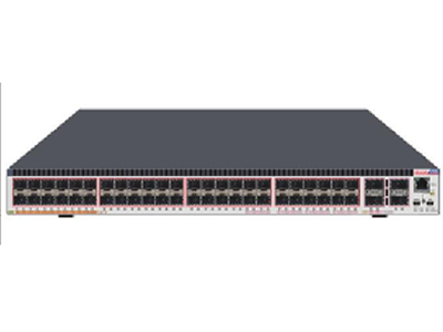 中兴 5960-52TM 支持  48个GE RJ45端口,1个扩展槽,两个风扇模块,两个电源模块。
