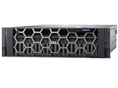 """戴尔PowerEdge R940(Xeon 金牌 5120*2/16GB*2/300GB*2)    """"产品类别: 机架式 产品结构: 3U CPU型号: Xeon Gold 5120 标配CPU数量: 2颗 内存容量: 16GB*2 硬盘接口类型: SAS 标配硬盘容量: 300GB*2"""""""