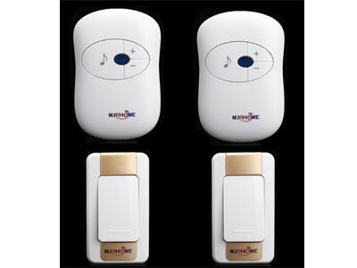 玛嘉乐-门铃无线家用-远距离电子音乐智能遥控二拖二远程老人呼叫器-防水