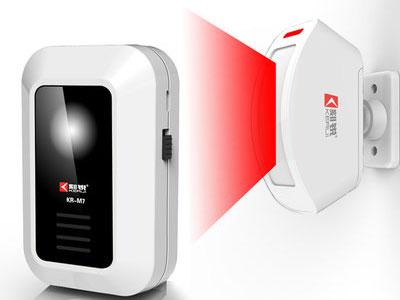 刻锐-分体式红外线电子迎宾器感应器店铺进门你好欢迎光临感应门铃