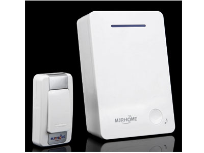 玛嘉乐-门铃无线家用用电池款直流电全用电池不插电的无线门铃二拖四防水