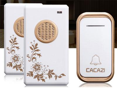 卡佳斯无线家用门铃一拖二一防水远距离遥控-智能电子-老人呼叫器