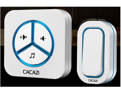 卡佳斯-门铃无线家用交流一拖二拖一不用电池远距离电子遥控呼叫器防水