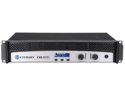 CROWN-CDI4000双通道,带DSP, 1200W @ 4?, 650W/Ch/8Ω;可70V/100V/140V 定压