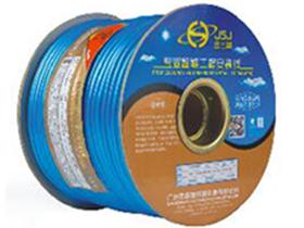 金山角 珠光蓝色麦克风话筒线 FD-166   OD:6.0(29/无氧铜+神经线1条)X1.5X2C(PVC红白)          +棉纱+铝箔+(96/无氧铜)编网 FD-166A  OD:6.6(40/无氧铜+神经线3条)X1.65X2C(PVC红白)          +棉纱+铝箔+(128/无氧铜)编网