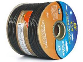金山角 透明黑色麦克风话筒线 FD-164D  OD:6.5(22/无氧铜+神经线3条)X1.5X2C(PVC红白)          +棉纱+铝箔+(112/镀锡铜)编网