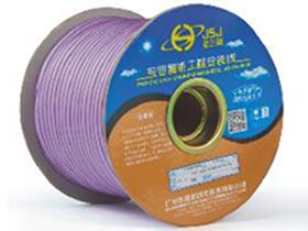 金山角 浅紫色麦克风话筒线 FD-169B  OD:6.7(29/无氧铜+神经线1条)X1.5X2C(PVC红白)          +(96/无氧铜+棉纱)缠绕