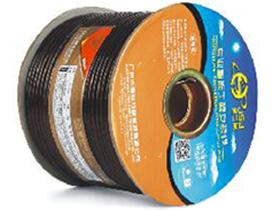 金山角 透明棕色麦克风话筒线 FD-180A  OD:6.0(26/无氧铜+神经线1条)X1.5X2C(PVC红白)          +棉纱+铝箔+(96/镀锡铜)编网
