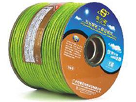 金山角 透明绿色麦克风话筒线 FD-184A  OD:6.5(22/无氧铜+神经线3条)X1.5X2C(PVC红白)          +棉纱+铝箔+(112/镀锡铜)编网