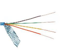 金山角 四芯带屏蔽电话线 FD-1405A  OD:3.6{(1/无氧铜)X4CX0.95PP+屏蔽铝箔}*四芯  单支线