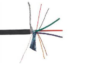 金山角 VGA逐行扫描视频线 FD-409A  OD:8.0{(7/镀锡铜)X0.85X4C+(7/镀锡铜)X1.6X3C+[(38/           镀锡铜缠绕]X2.5X3C+屏蔽铝箔+(128/AM-X)编网}*单支线  3+4