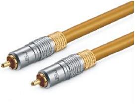 金山角 T-08 数码同轴音频线 土豪金色 金属头 金山角 拉链袋包装 1米 1.5米 2米 3米 5米 8米 10米 12米 15米 20米 25米 30米