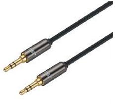 金山角 T-13 AUX音频线 黑钛色金属头 镀金头 全铜线芯 铜合金插头 金山角 袋包装 0.5米 1米 1.5米 2米 3米 5米