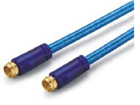 金山角 JB-TC05 TVF公直对TVF公直电视射频线  透明蓝色PVC外皮 双磁环 金山角 袋包装 1.8米 3米 5米