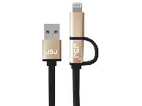 金山角 JSJ-USB226 数据线二合一苹果/安卓  (男士专享版)金属壳豪配 金山角 袋包装 1米