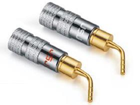 金山角  T276A T276B 纯铜针形音响插 长度:49 A:红色LOGO B:白色LOGO 金山角 袋包装