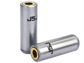 金山角  3.5立体声母铜壳镀金T-294B 长度:25 镀银外壳 金山角 袋包装