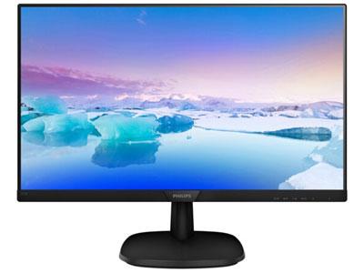 飞利浦 273V7QSB  屏幕尺寸:27英寸 面板类型:AH-IPS 最佳分辨率:1920x1080 可视角度:178/178° 视频接口:D-Sub(VGA),DVI-D 底座功能:倾斜:-5-20°