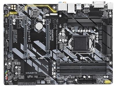 """技嘉Z370 HD3    """"主芯片组:Intel Z370 音频芯片:集成Realtek ALC892 8声道音效芯片 最大内存容量:64GB 主板板型:ATX板型 外形尺寸:30.5×22.5cm 电源插口:一个8针,一个24针电源接口"""""""