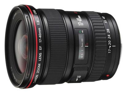 佳能 EF-17-40mmf4L USM  卡口:佳能卡口品种:单反镜头画幅:其它类型:广角变焦