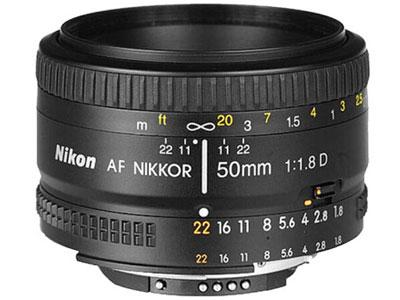 尼康(Nikon)镜头 AF 50mm f/1.8D  卡口:尼康卡口品种:单反镜头画幅:全画幅类型:标准定焦